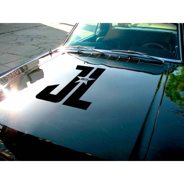 Justice League Hood v3  Movie Bruce Wayne Flash Diana Prince Arthur Curry Superhero  Comic Car Hood Vinyl Sticker Decal>