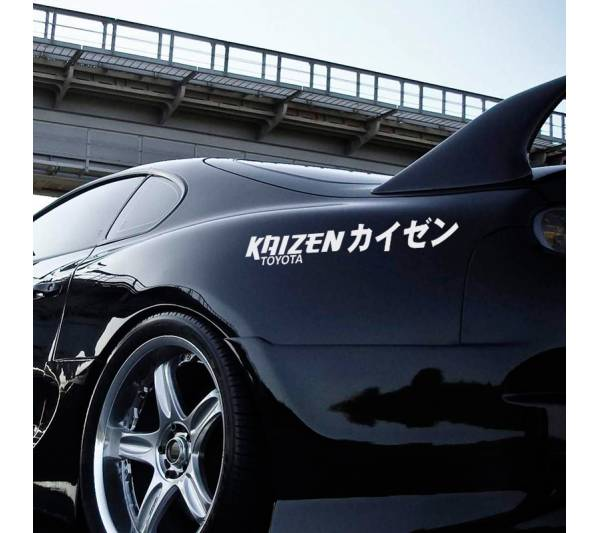 Kaizen Toyota トヨタ Corolla Supra Sprinter Celica TRD Performance  JDM Banner Japanese Low Stance Kanji Katakana Drift Racing Build Vinyl Sticker Decal