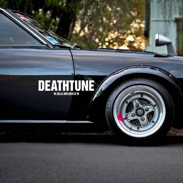 Death Tune v3 Zilla Life Stance Kanji Katakana Racing Rising Sun Japan JDM Car Vinyl Sticker Decal >