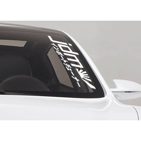 Kanji Rising Sun Japan Performance JDM Drift Car Windshield Vinyl Sticker Decal>