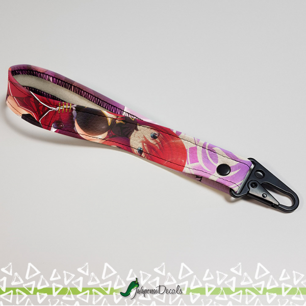 Rias Gremory Pure-Blooded Devil Lucifer Crimson Haired Ruin Princess Hot Sexy Girl Boobs Anime Manga Printed Eco Leather Car Tag Wrist/Palm Lanyard Strap Keychain>