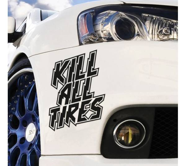 Kill All Tires JDM Stance Clean Ken Block Low Japan Performance Drift Car Vinyl Sticker Decal