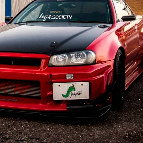 Legit Society Windshiled Banner JDM Clean Stance Low Japan Made Slammed Event Car Vinyl Sticker Decal