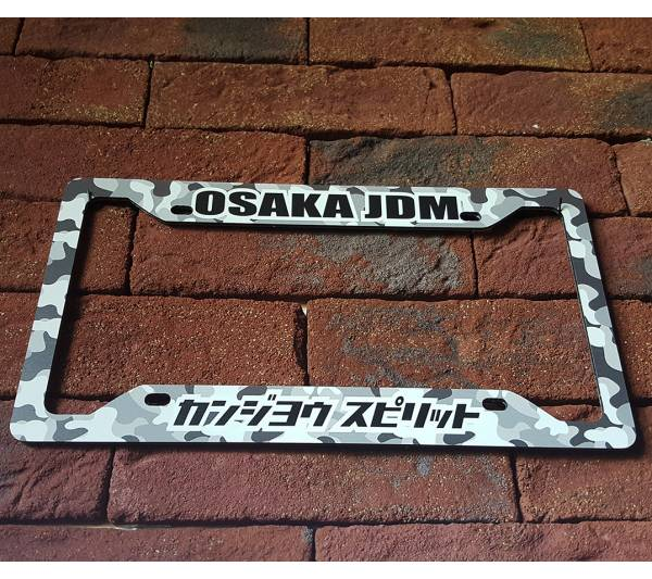 Osaka Flying Spirit JDM Kanjo Performance Loop Angels Honda Printed Aluminum Composite Car License Plate Frame