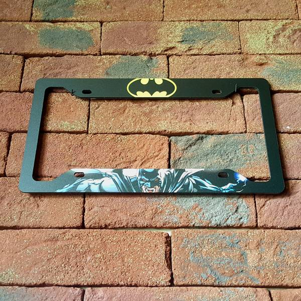 Bruce Wayne v1  Sign Wayne Gotham Printed Aluminum Composite Car License Plate Frame#Batman