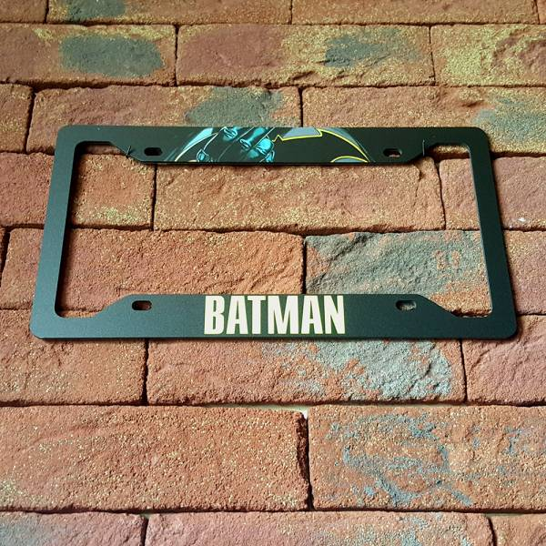 Bruce Wayne v3  Sign Wayne Gotham Printed Aluminum Composite Car License Plate Frame#Batman