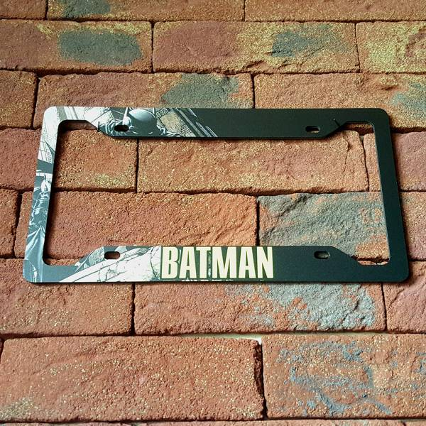 Bruce Wayne v2  Sign Wayne Gotham Printed Aluminum Composite Car License Plate Frame#Batman