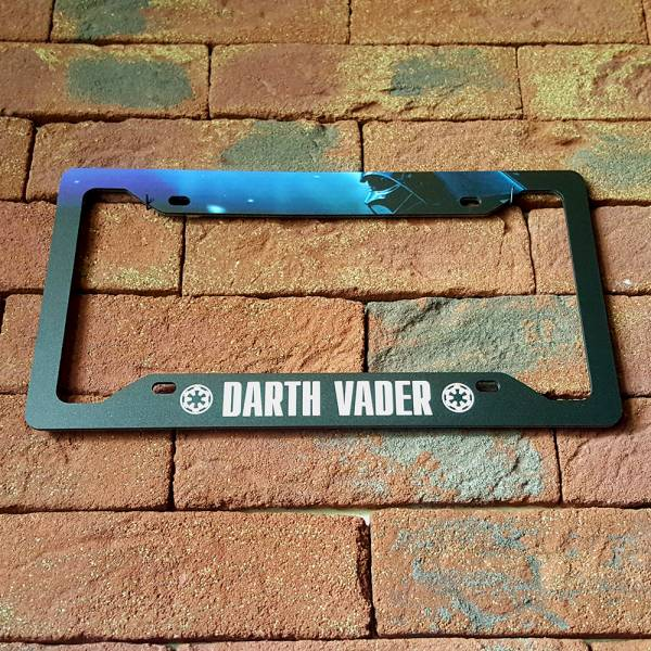 Darth Galactic Empire Sith Dak Force Printed Aluminum Composite Car License Plate Frame>