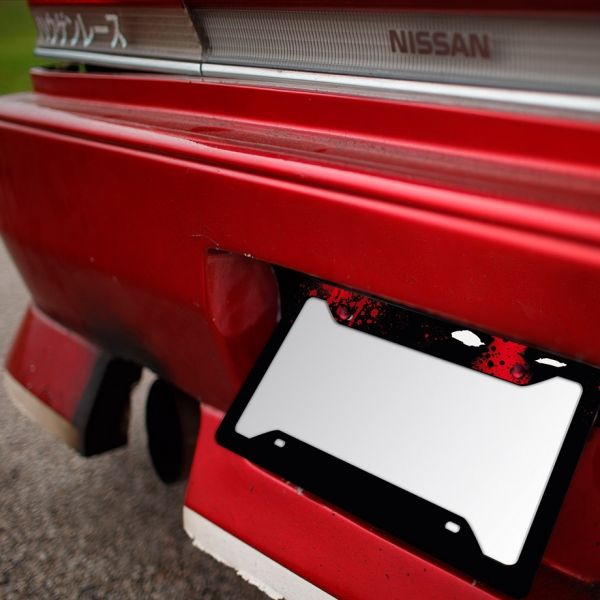 Wade Wilson Blood Badass Comic Weapon X Printed Aluminum Composite Car License Plate Frame>