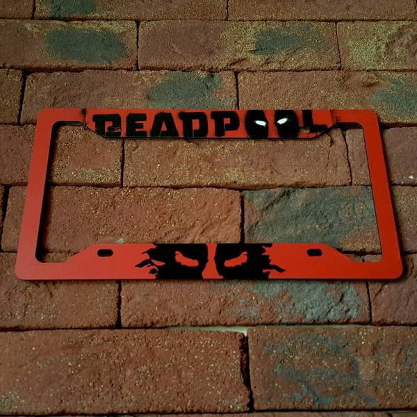 Deadpool Logo Splash Badass Marvel Comics Avengers Printed Aluminum Composite Car License Plate Frame
