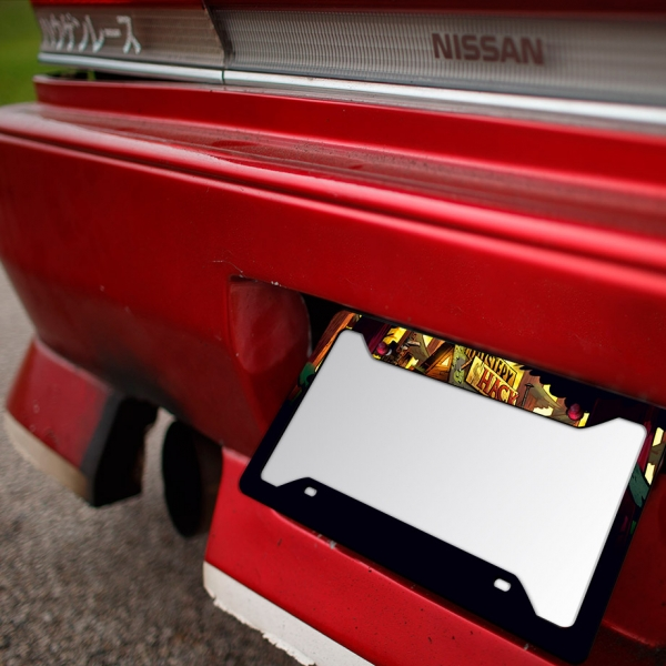Gravity v2 Dipper Mabel Stan Mystery Shack Bill Cipher Dream Demon Pines Printed Aluminum Composite Car License Plate Frame>