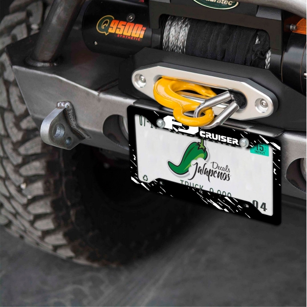 FJ Cruiser TRD PRO Racing Development SUV Truck Off Road 4x4 Printed Aluminum Composite Car License Plate Frame>