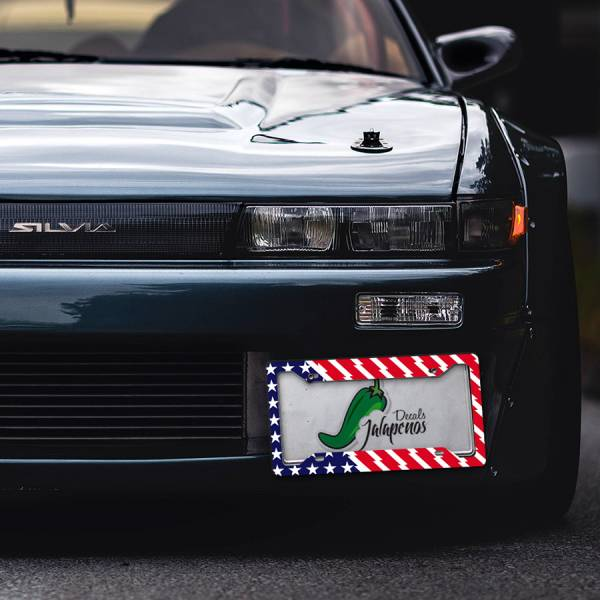 Hoonigan v3 USA Flag Ford Escort Mk2 RS Ken Block Stance JDM Racing Printed Aluminum Composite Car License Plate Frame