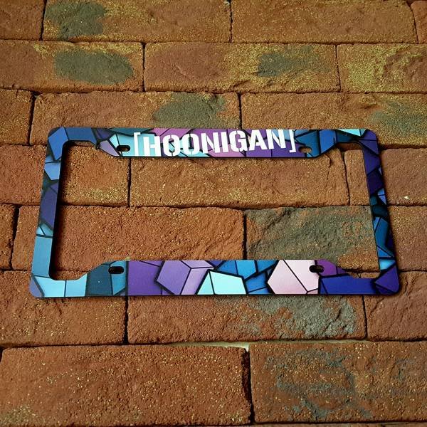 Hoonigan Ken Block Stance JDM Racing Printed Aluminum Composite Car License Plate Frame>