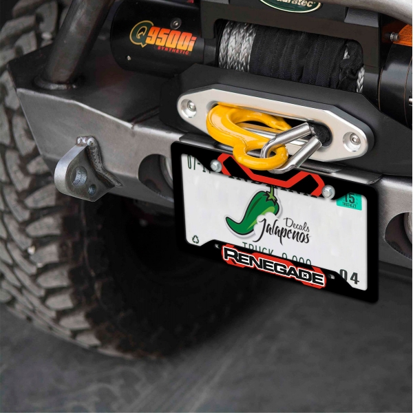 Jeep Renegade Off Road Sport Latitude Limited 4x4 SUV Logo Printed Aluminum Composite Car License Plate Frame