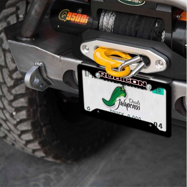Jeep Wrangler Rubicon CJ JK TJ YJ Off Road 4x4 SUV Printed Aluminum Composite Car License Plate Frame>