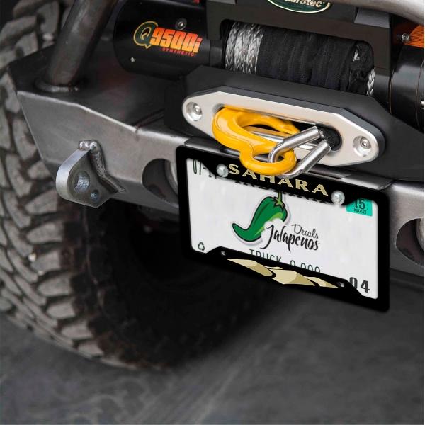 Jeep Wrangler Wrangler YJ JK Sahara Off Road 4x4 Sport Utility Vehicle SUV Printed Aluminum Composite Car License Plate Frame>