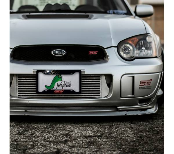 Subaru STI Tecnica International Logo Racing  Japan Printed Aluminum Composite Car License Plate Frame