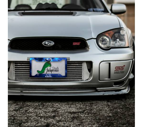 Subaru WRX Impreza STI Logo Space Racing  Japan Printed Aluminum Composite Car License Plate Frame