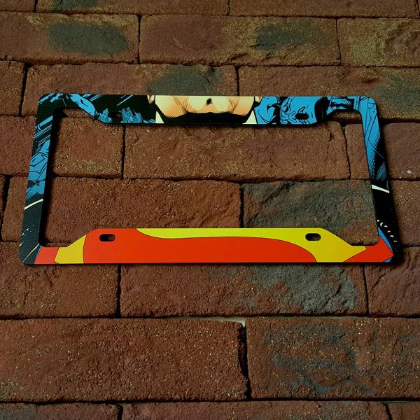 Superman Logo Clark Kent DC Comics Printed Aluminum Composite Car License Plate Frame