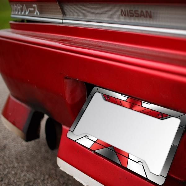 Bucky Barnes Star Hand Steve Rogers Superhero Comic Printed Aluminum Composite Car License Plate Frame>