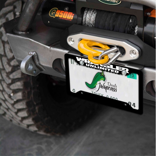 Jeep Wrangler Unlimited TJ YJ JK JL Off Road 4x4 Vehicle SUV Logo Printed Aluminum Composite Car License Plate Frame