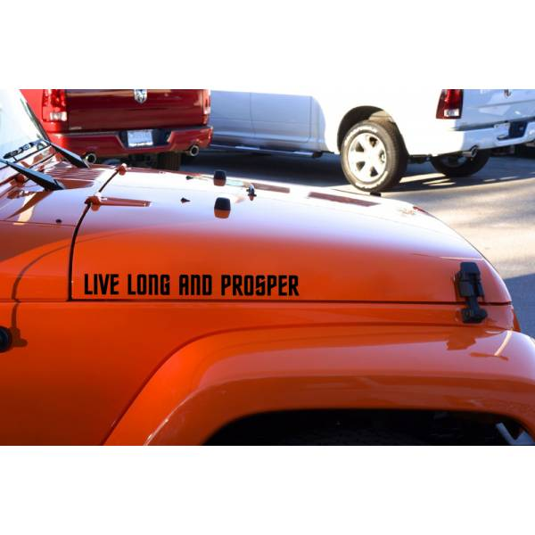 Pair Fender Trek Live Long and Prosper Spock Vulcan Decal Car Vinyl Sticker>