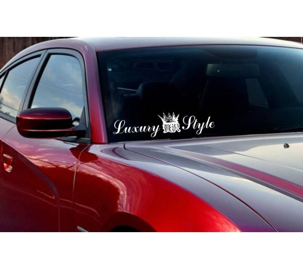 JDM Windshield Luxury Style Japan Royal VIP Low Stance Vinyl Decal Car Any Color