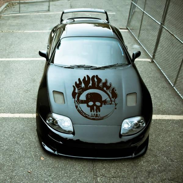 Hood Mad Max v2 Blood Joe Furiosa Fury Road Stripe Skull Chain Race Hot Car Vinyl Sticker Decal
