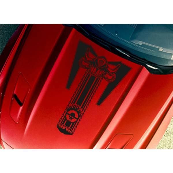 Hood Mad Max Joe Fury Road Stripe Skull Chain Race Hot Car Vinyl Sticker Decal