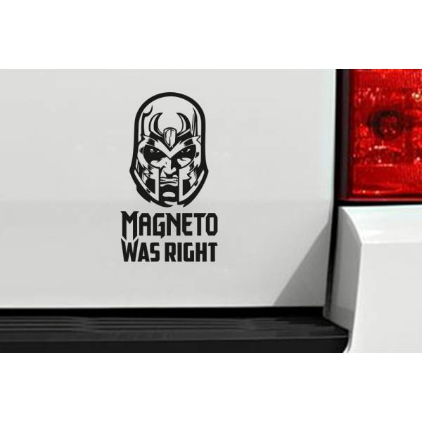 Haters Hate Magneto Was Right Funny Xavier X Men Comic Car Vinyl Sticker Decal
