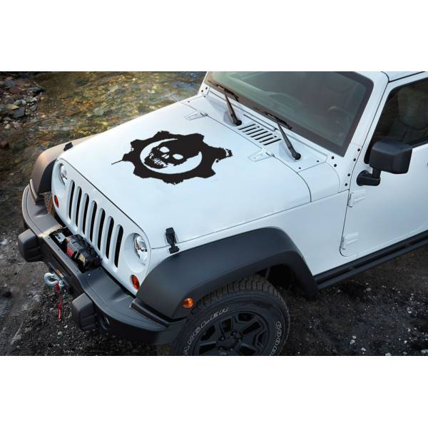 Skull Gears of War Rock Metal Shadow Monster 4x4 Cool Decal Car Truck Hood Vinyl Sticker
