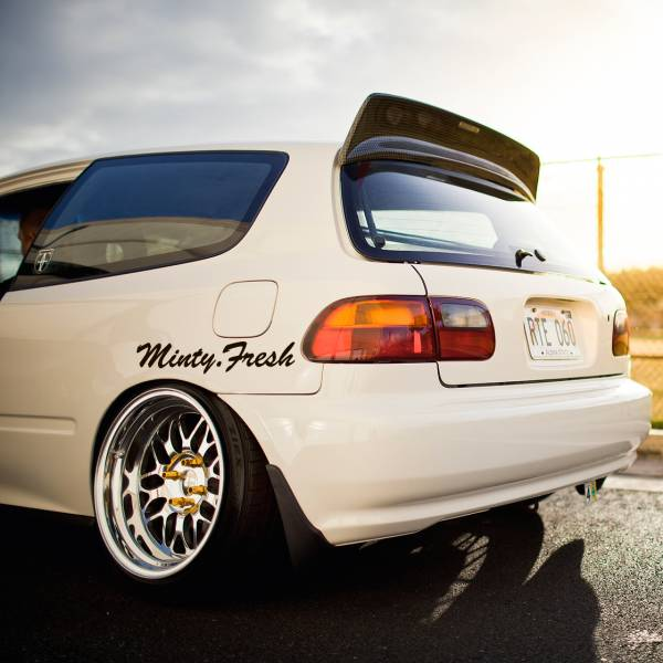 Minty Fresh Windshiled Banner JDM Clean Stance Low Japan Made Racing Event Car Vinyl Sticker Decal