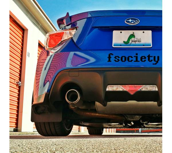2x Pair Mr Robot Fsociety v2 Big Logo E Corp Hacker Elliot Alderson TV Show Car Vinyl Sticker Decal