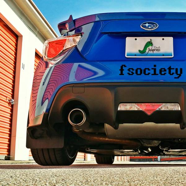 2x Pair Fsociety v2 Robot Big E Corp Hacker Elliot Alderson Car Vinyl Sticker Decal>