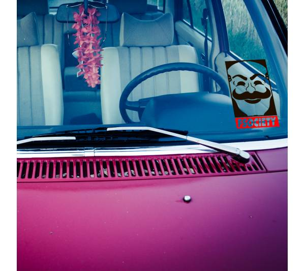 2x Pair Mr Robot Fsociety Obey Logo Mask Anonymous Democracy Hacked Elliot TV Show Car Vinyl Sticker Decal