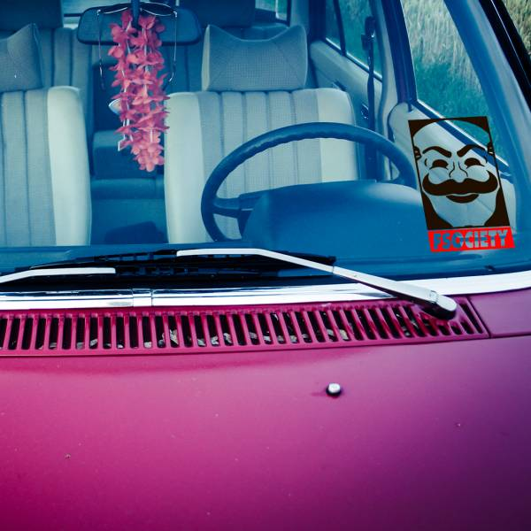 2x Pair Fsociety Obey Mask Anonymous Democracy Hacked Elliot Robot Car Vinyl Sticker Decal>