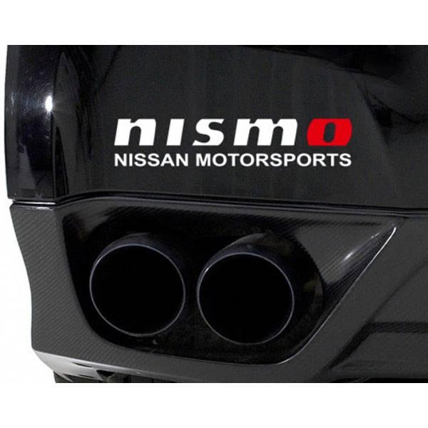 2x NISMO Nissan Motorsport 350z 370z GTR Skyline Racing Car Window Body Bumper Vinyl Sticker Decal