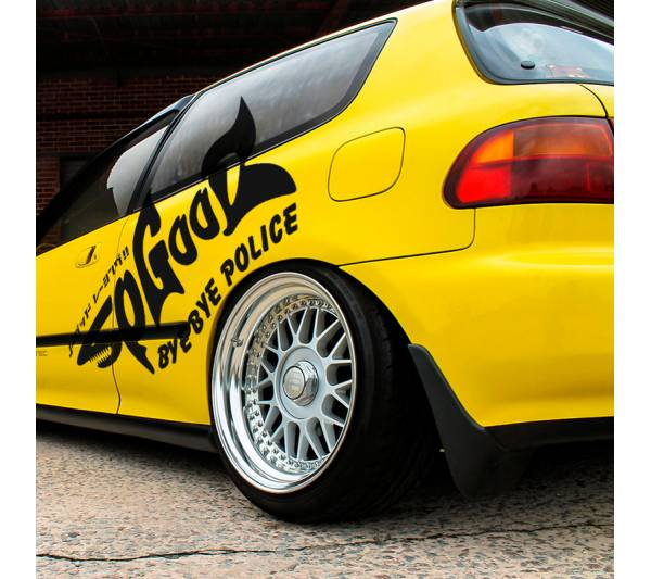 2x Pair Shark Style No Good Racing NGR Bye Police Osaka JDM Kanjo Performance Kanjozoku Honda Civic EK EG Racing Vinyl Sticker
