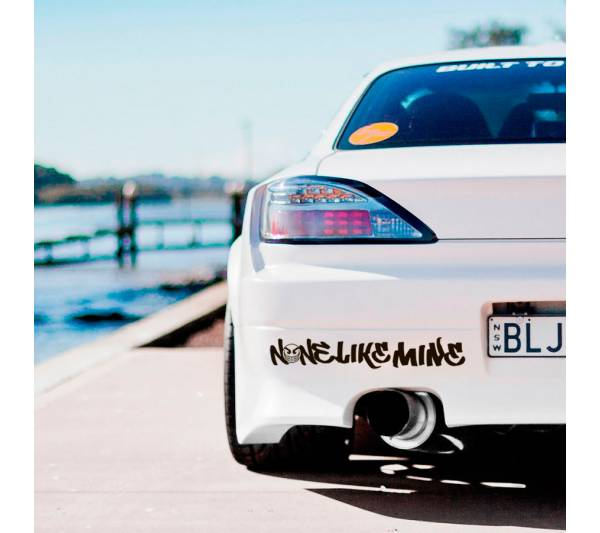 None Like Mine Logo Banner v2 JDM Car Club Stance Low Slammed Event Tuning Racing Show Low Vinyl Decal