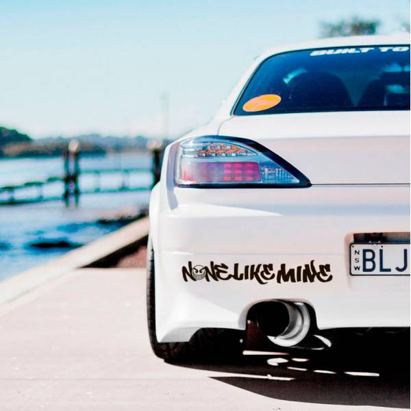 None Like Mine Banner v2 JDM Car Club Stance Low Slammed Event Tuning Racing Show Low Vinyl Decal>