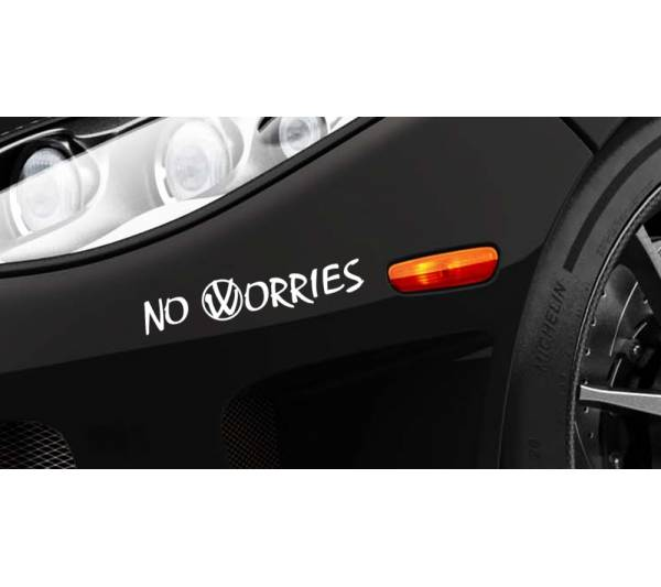 No Worries Funny JDM Slammed Stance Japan Flush Low Lowered Vinyl Sticker Decal