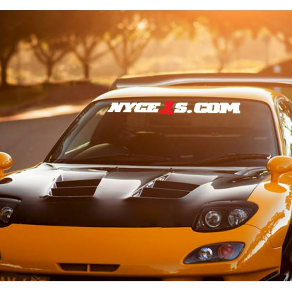 Long NYCE 1S  NYCE1S Motorsport JDM Logo Windshield Strip Banner Show Royal Event Stance Low Vinyl Decal