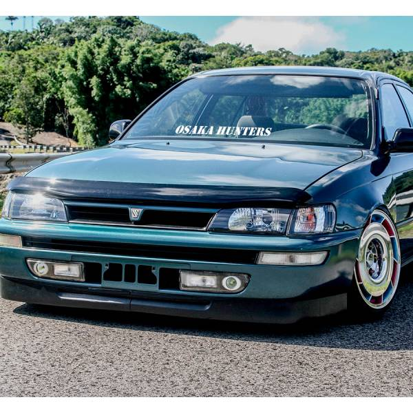 Osaka Hunters Low Slammed Build Japan Drift Racing JDM Event Stance Banner Strip Low Vinyl Decal >
