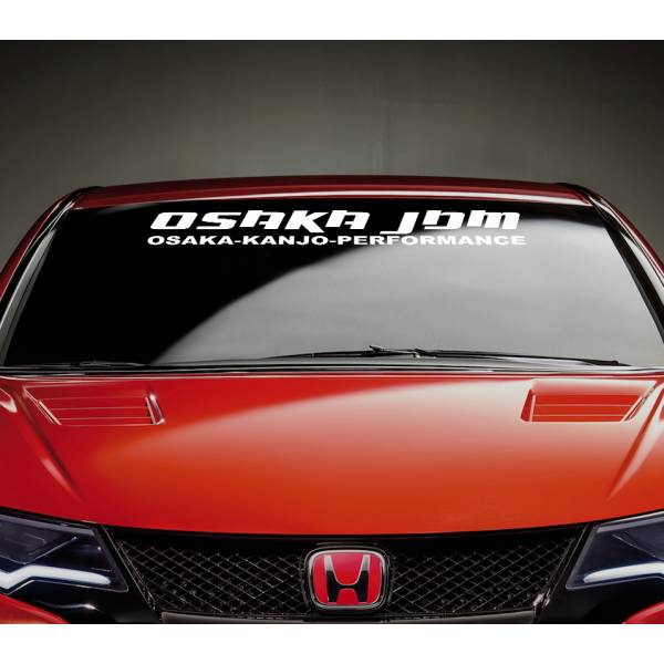Osaka JDM Kanjo Performance Honda Strip Stance Car Windshield Vinyl Sticker Decal