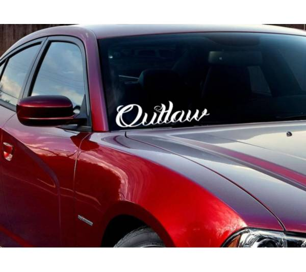 JDM Windshield Banner Outlaw Racing Street Bad Stance Muscule Vinyl Decal Car
