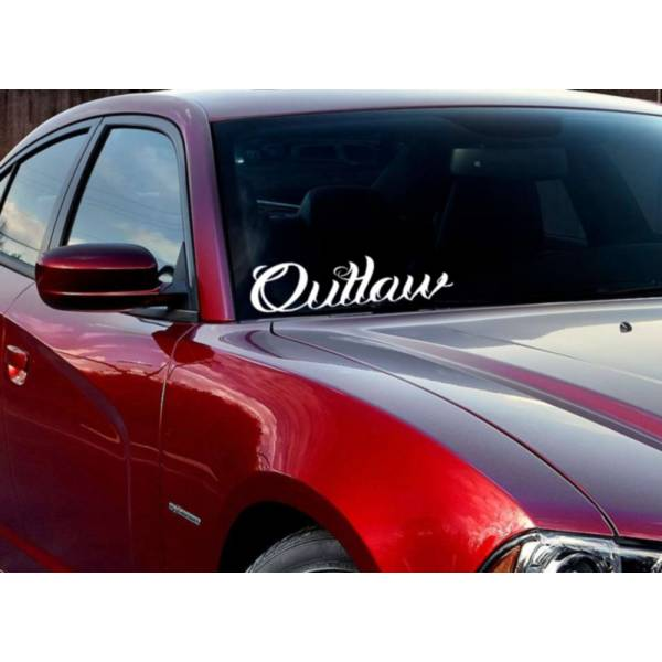 JDM Windshield Banner Outlaw Racing Street Bad Stance Muscule Vinyl Decal Car>