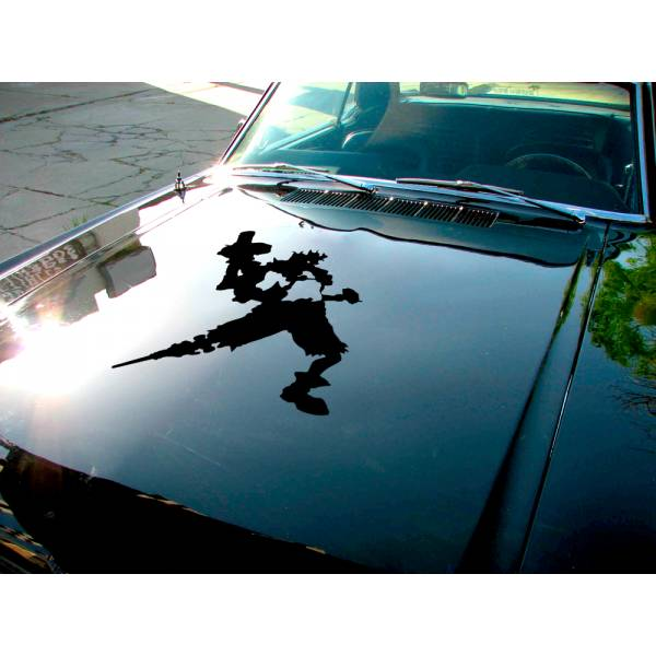 Junkrat v2 Overwatch Ultimate Hood Logo Video Game Car Vinyl Sticker Decal