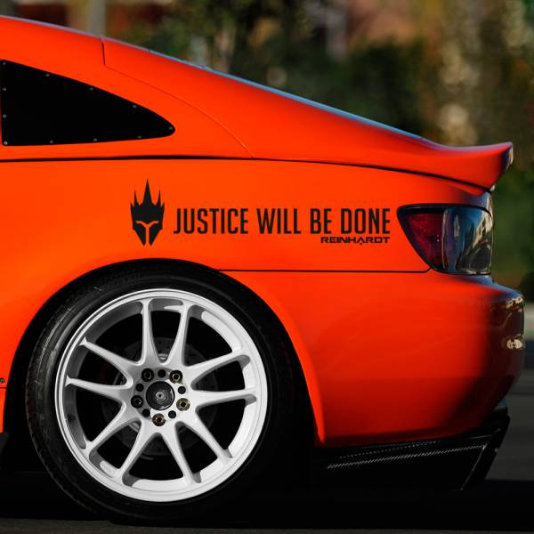 2x Pair Reinhardt Justice Will Be Done Ultimate Car Vinyl Sticker Decal>