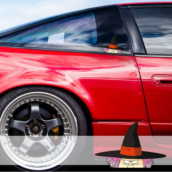 Peeking Fortuneteller Baba Goku Son Saiyan Dragon Ball Z Super DBZ Funny JDM Racing Low Stance Anime Manga Car Vinyl Sticker Decal